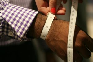 Everything was measured...including Robert's wrists!