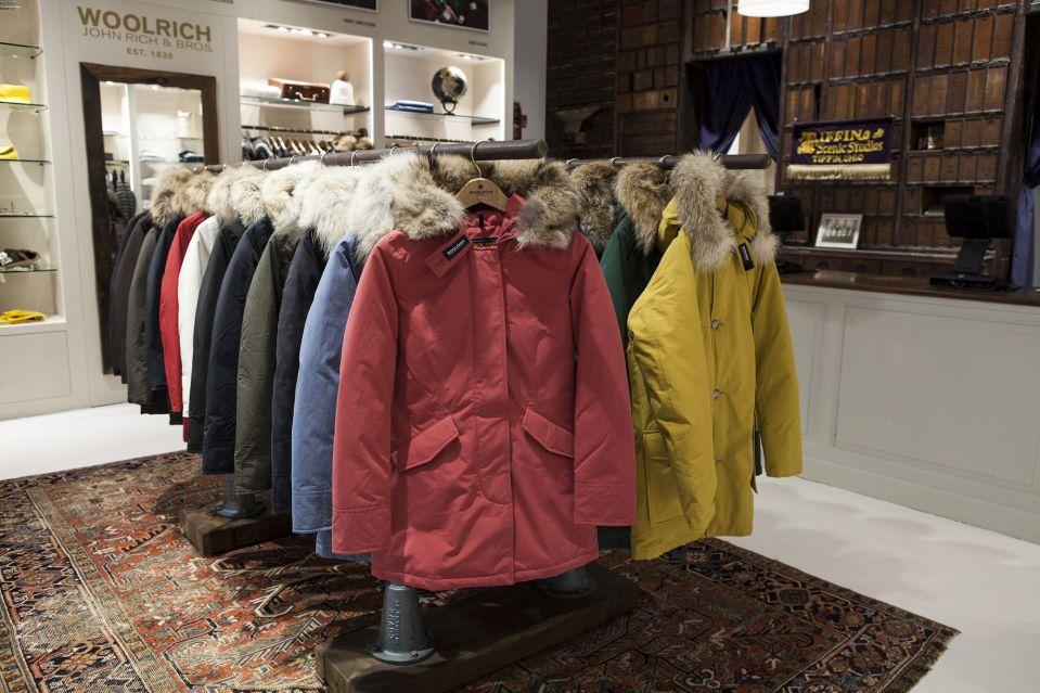 Woolrich Store Soho_Parka-rack