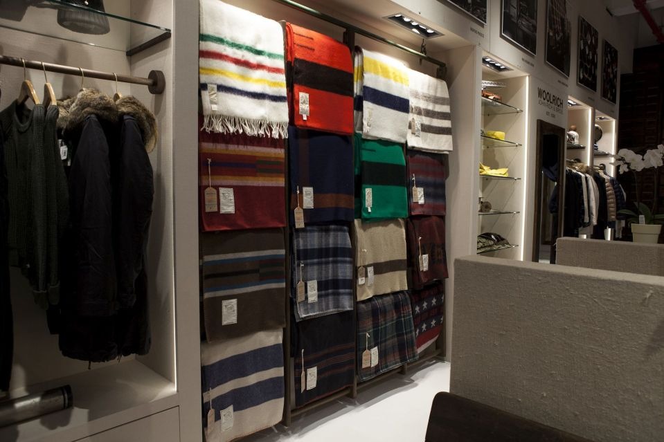 Woolrich Store Soho_Upstairs_Blankets